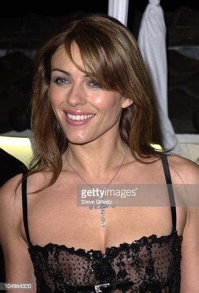 Elizabeth Hurley during WWD's first 'Black,White and