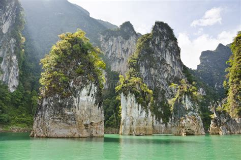Beautiful High Mountains And Green River ( Guilin Of