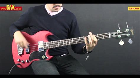 Gibson - SG Standard Bass Faded Demo at GAK - YouTube