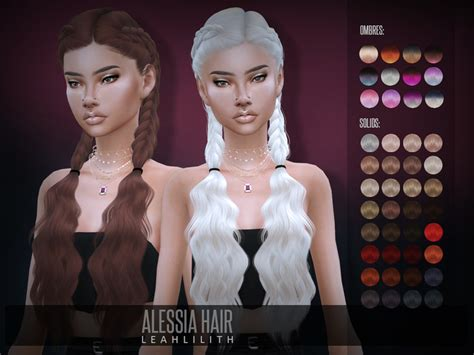 Sims 4 Hairs ~ The Sims Resource: Alessia Hair by LeahLillith