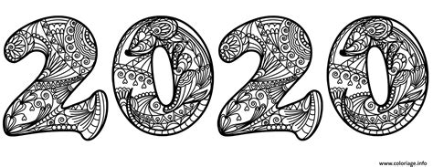 Coloriage 2020 Chinese Nouvel An Of The Rat Zentangle dessin