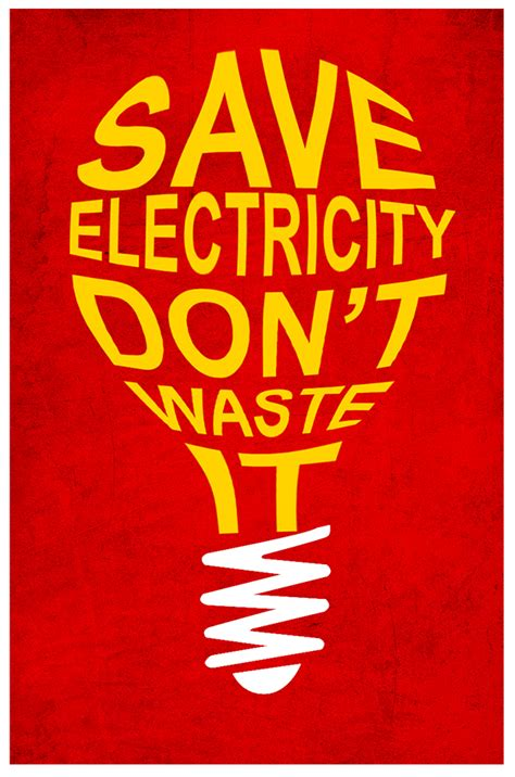 Save Electricity Poster Design on Behance