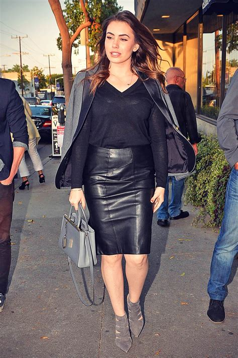 Sophie Simmons candids out in Melrose - Leather Celebrities