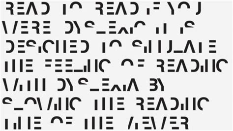 How Could This Font Correct Dyslexia? - ChrisByrnes