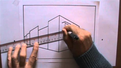 How To Draw Perspective 3 Cityscape demonstration with