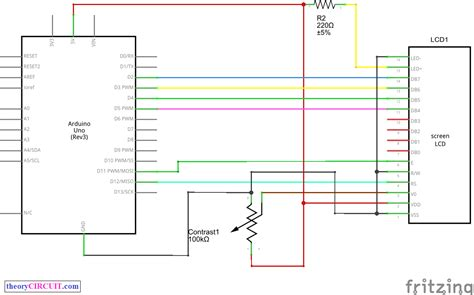 Drive LCD display with arduino - theoryCIRCUIT - Do It
