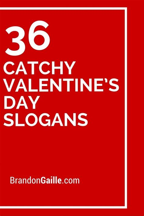 150 Catchy Valentine's Day Slogans and Taglines