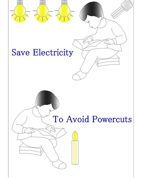 Posters to save electricity for avoiding power cuts