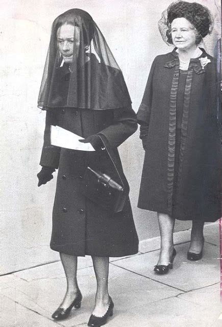 Wallis Simpson, the Duchess of Windsor, attends her