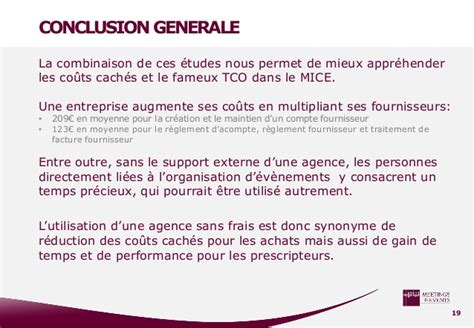 Etude couts caches mice 2014 Groupe Ideal Gourmet