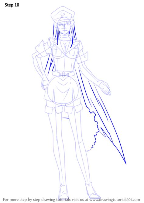 Learn How to Draw Esdeath from Akame Ga Kill (Akame Ga