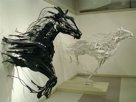 Animal Sculptures Made From Discarded Plastic Utensils