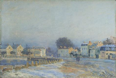 The Watering Place at Marly Le Roi Hoarfrost, 1875