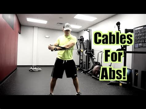 3 Cable Exercises for BETTER ABS! (Abdominals, Obliques