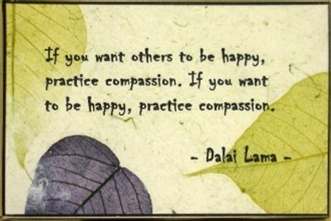 """""""If you want others to be happy, practice compassion"""