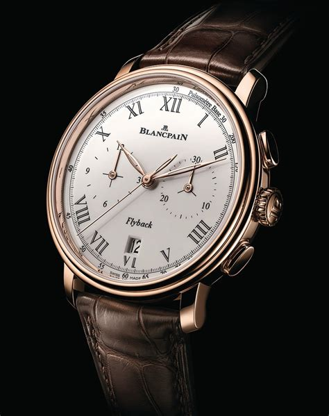 Blancpain Villeret Pulsometer Flyback Chronograph Watch