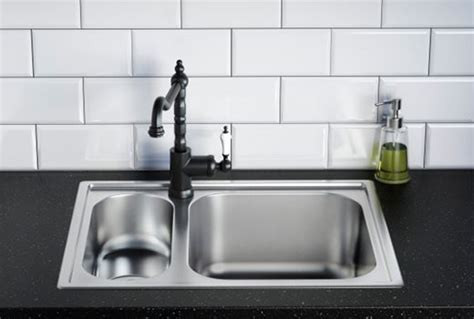 tap mounted within sink, rather than on worktop | Ikea