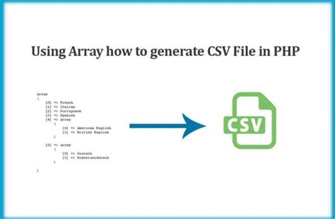 Using Array how to generate comma-separated value (CSV