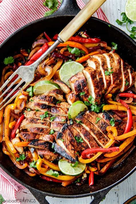 The BEST Chicken Fajitas with Chipotle Lime Crema (VIDEO