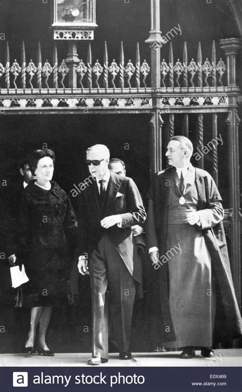 Duke and Duchess of Windsor attend funeral of Princess