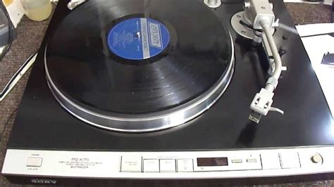 Sony PS-X75 Biotracer Turntable - YouTube
