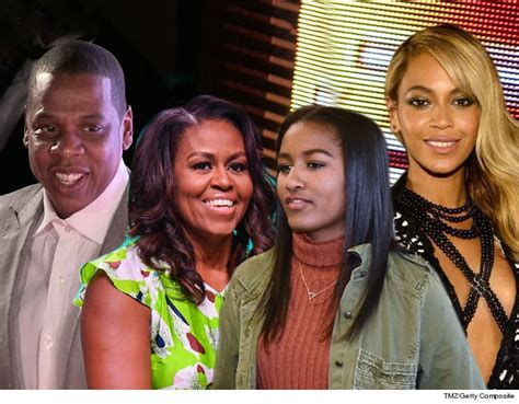 Michelle and Sasha Obama Attend Beyonce and Jay-Z Concert