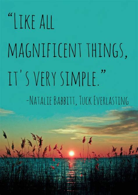 """Quote: """"Like all magnificent things, it's very simple"""