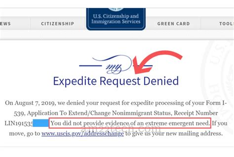 USCIS Denying EAD Expedite Request – Did Not Provide