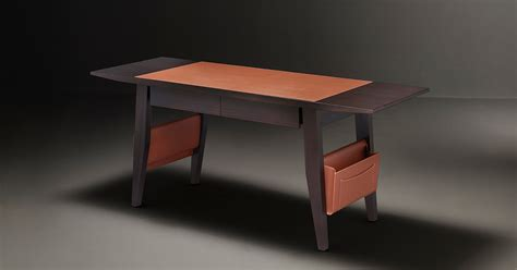 Promemoria | Isaac: Writing Desk in Wood and Leather