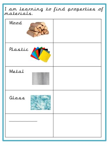 Early years primary science teaching resources: Materials