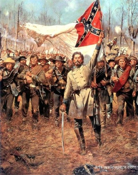 This is a picture of a Confederate general holding the