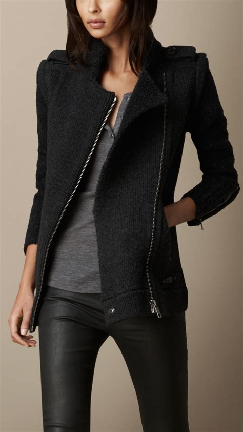 Lyst - Burberry Zip Detail Cardigan Jacket with Removable
