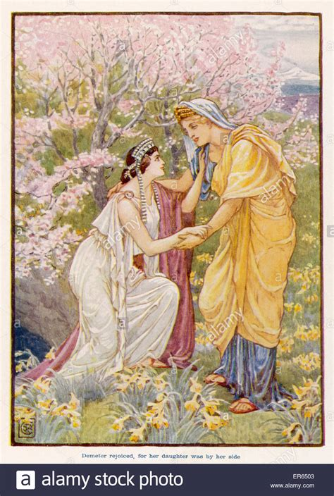 Persephone (Proserpina) is reunited for the Spring and