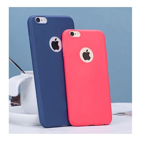 Coque Silicone Couleurs IPHONE 6/6S PLUS APPLE Mat Ultra
