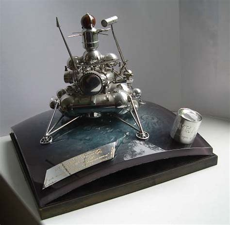 SOVIET AUTOMATIC PROBE LUNA-24 SCALE MODEL WITH THE LUNAR